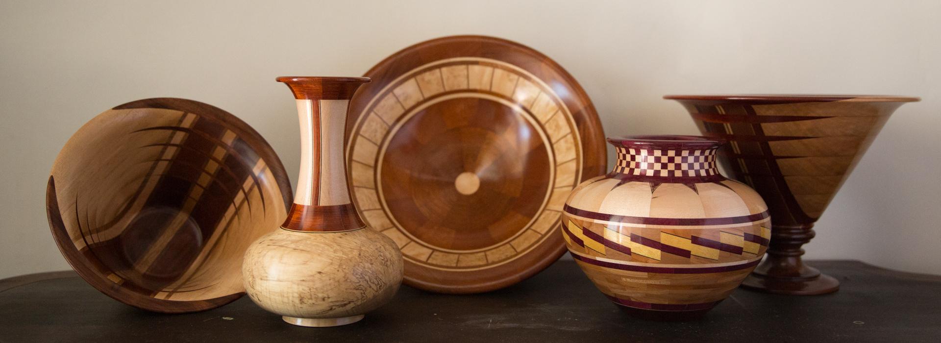 Segmented wood turned bowls